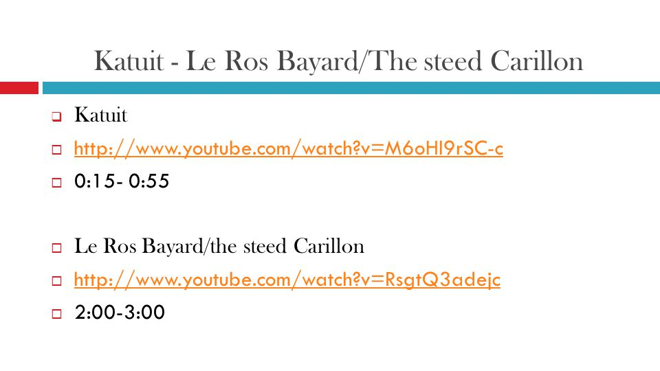 Katuit - Le Ros Bayard/The steed Carillon