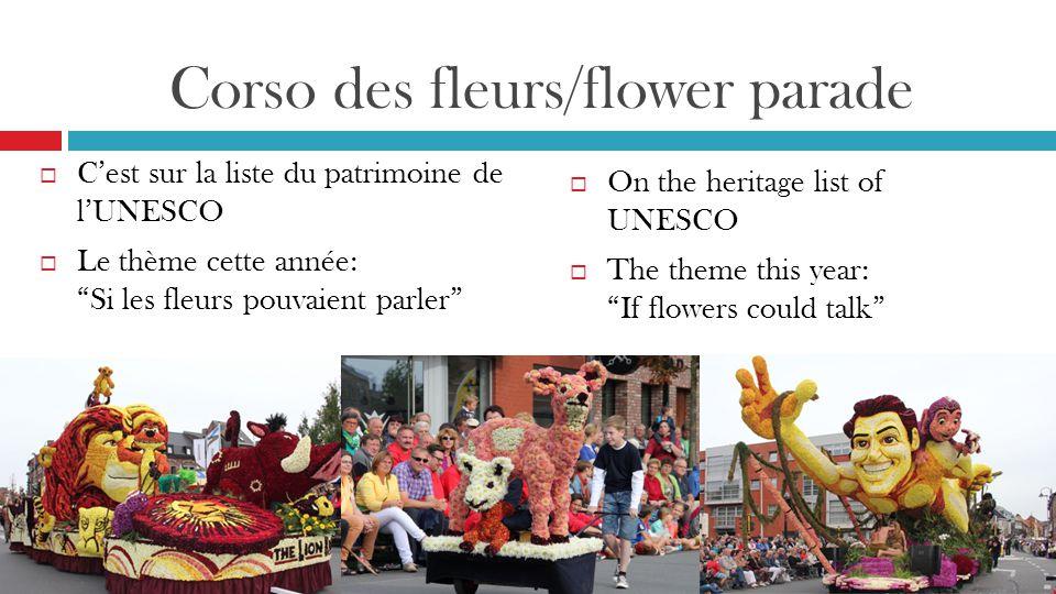 Corso des fleurs/flower parade