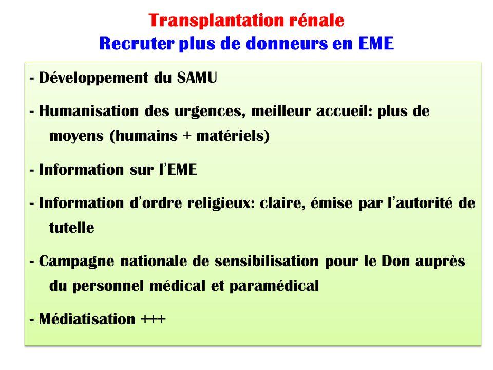 Transplantation rénale Recruter plus de donneurs en EME