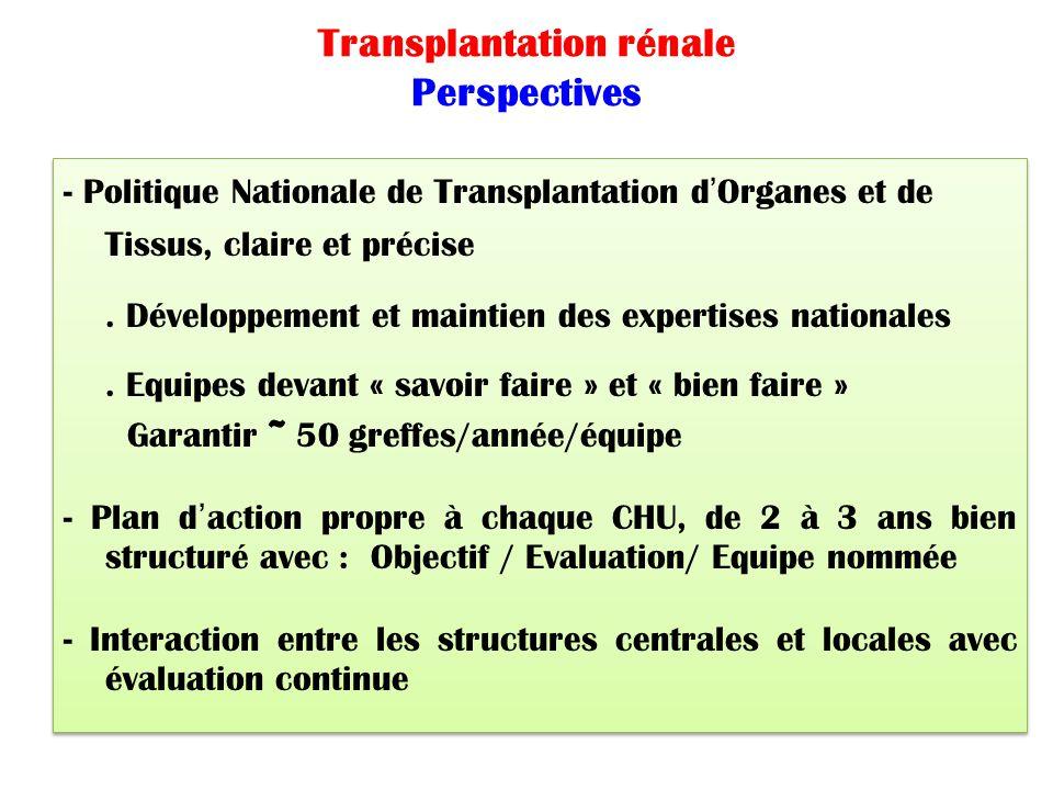 Transplantation rénale Perspectives