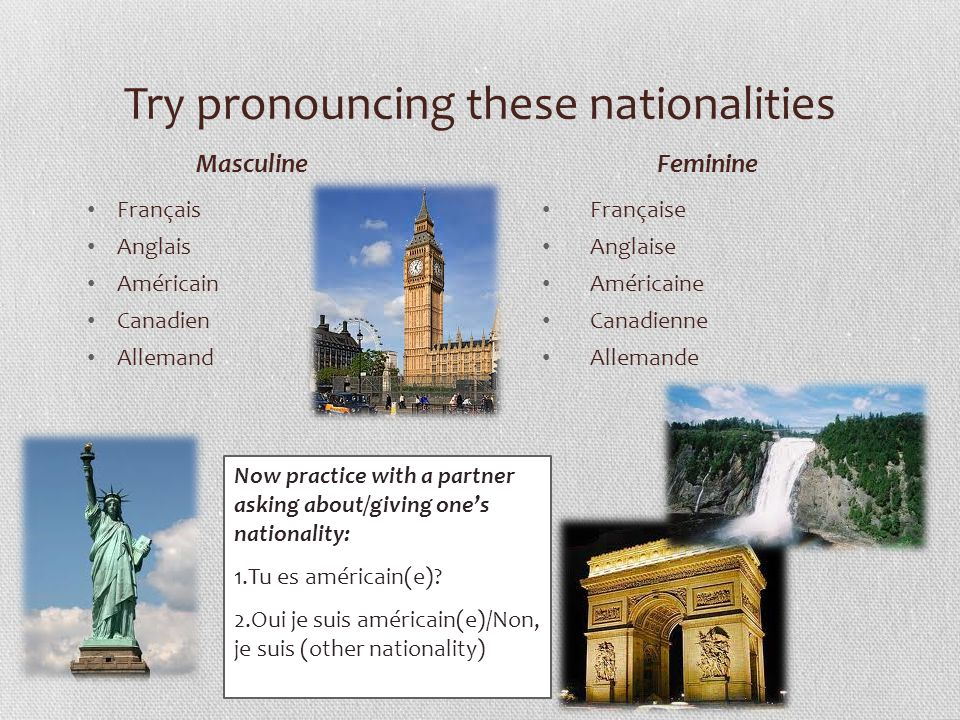 Try pronouncing these nationalities