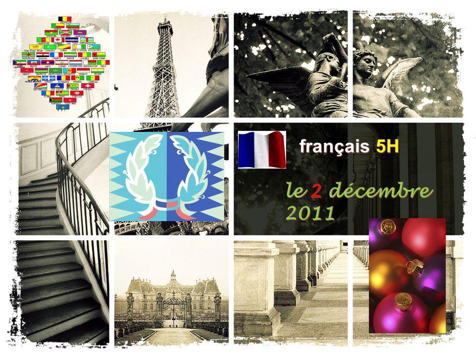 français 5H le 2 décembre 2011