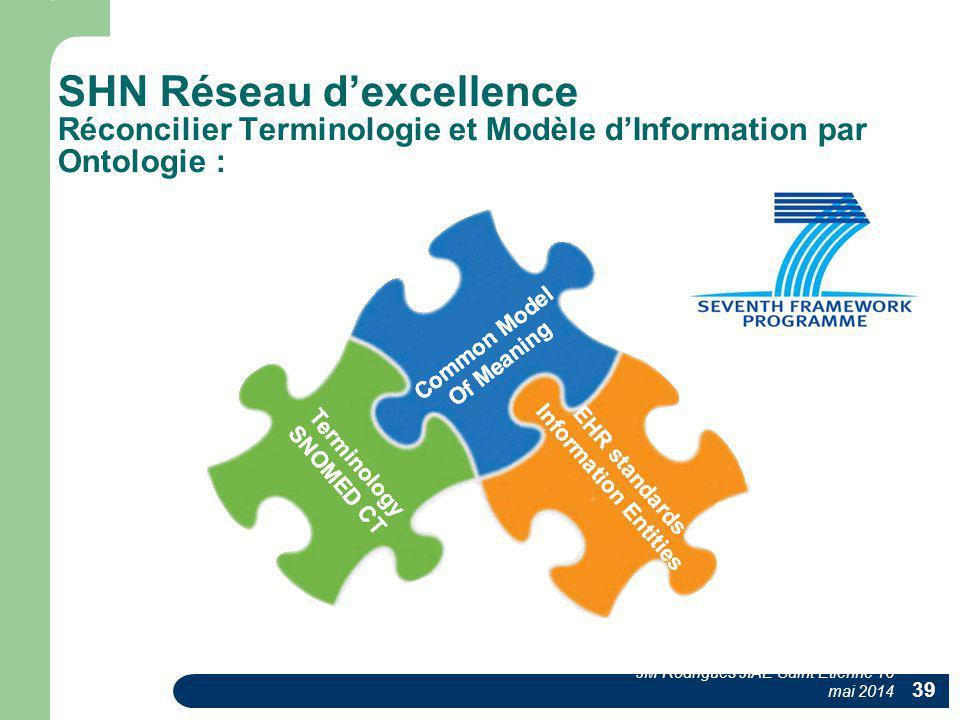 SHN Réseau d'excellence Réconcilier Terminologie et Modèle d'Information par Ontologie :