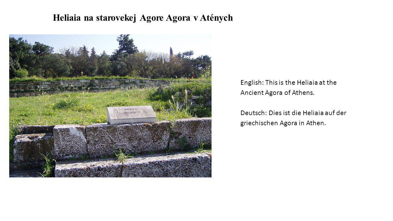 Heliaia na starovekej Agore Agora v Aténych