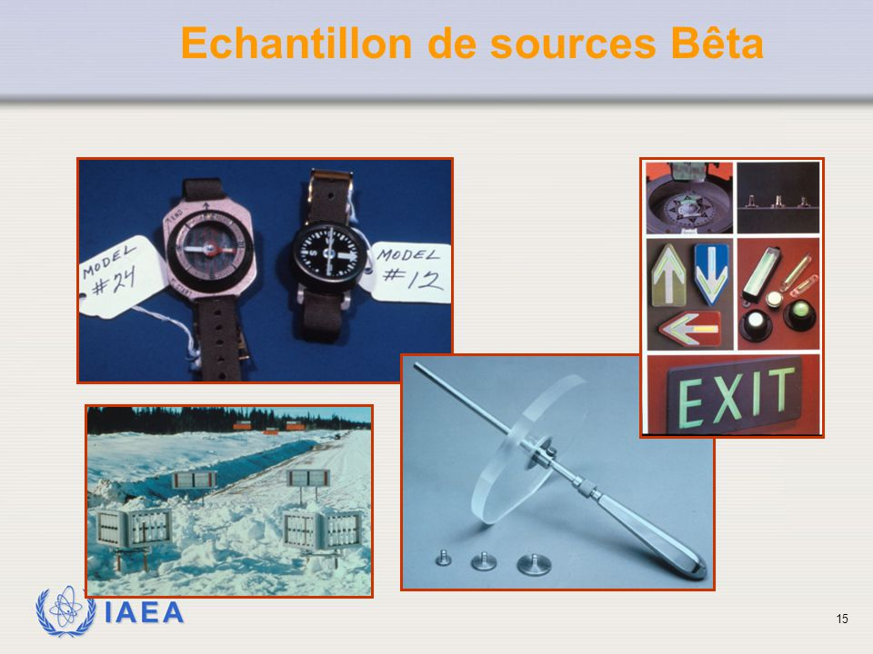 Echantillon de sources Bêta
