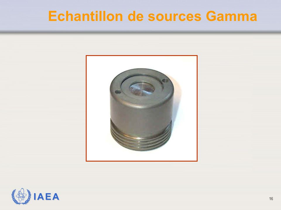 Echantillon de sources Gamma