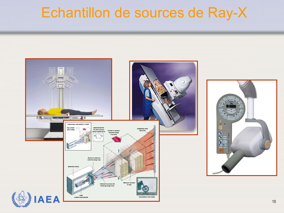 Echantillon de sources de Ray-X