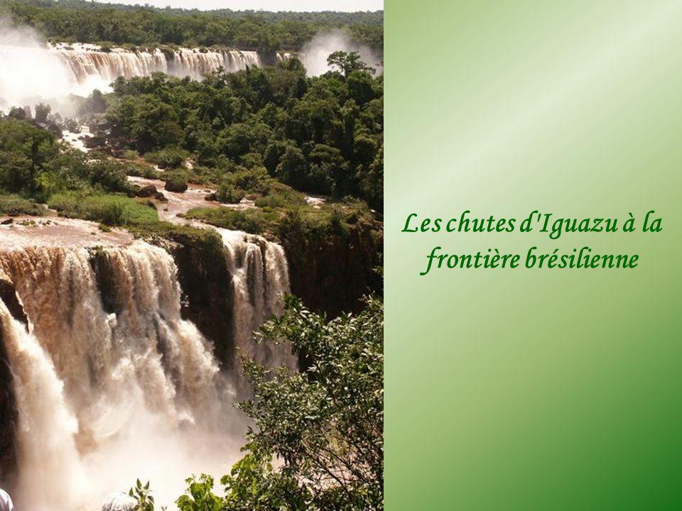 Les chutes d Iguazu à la frontière brésilienne