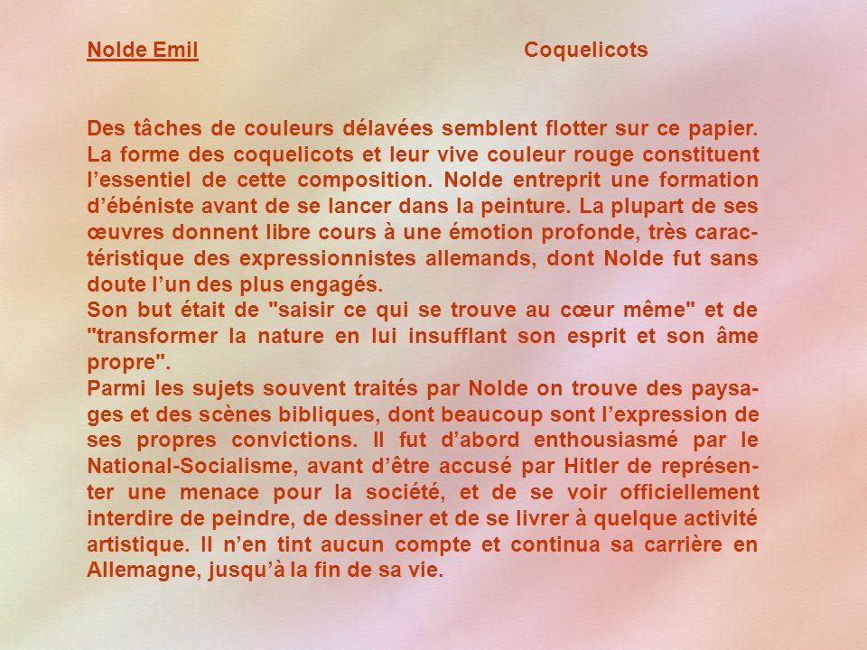 Nolde Emil Coquelicots