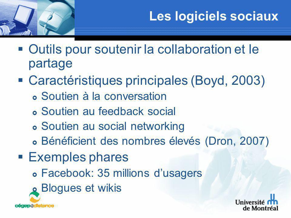 Outils pour soutenir la collaboration et le partage