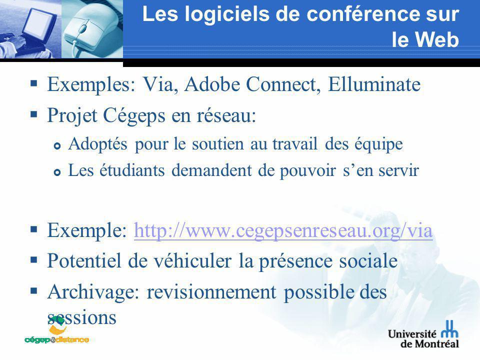 Les logiciels de conférence sur le Web