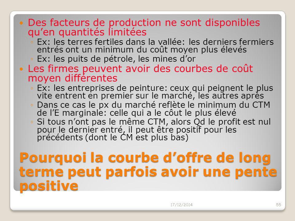 Des facteurs de production ne sont disponibles qu'en quantités limitées