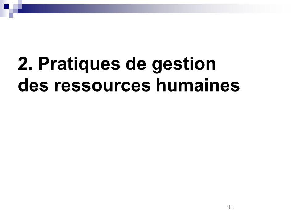 2. Pratiques de gestion des ressources humaines