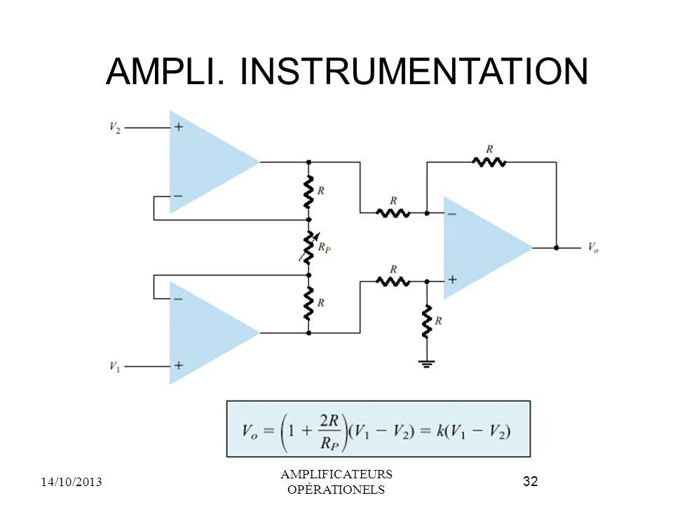 AMPLI. INSTRUMENTATION