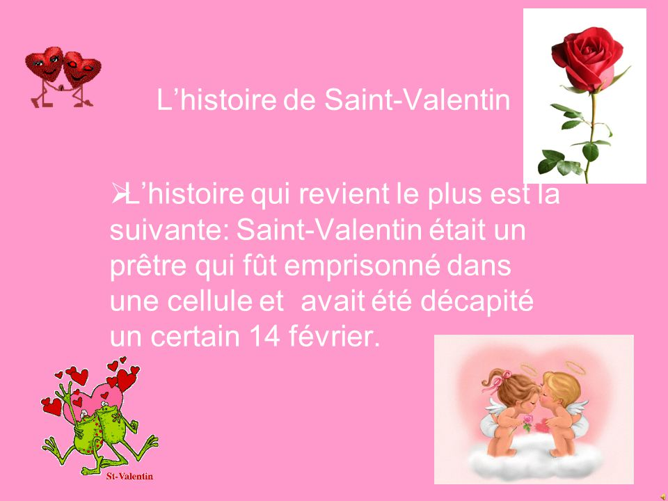 L'histoire de Saint-Valentin