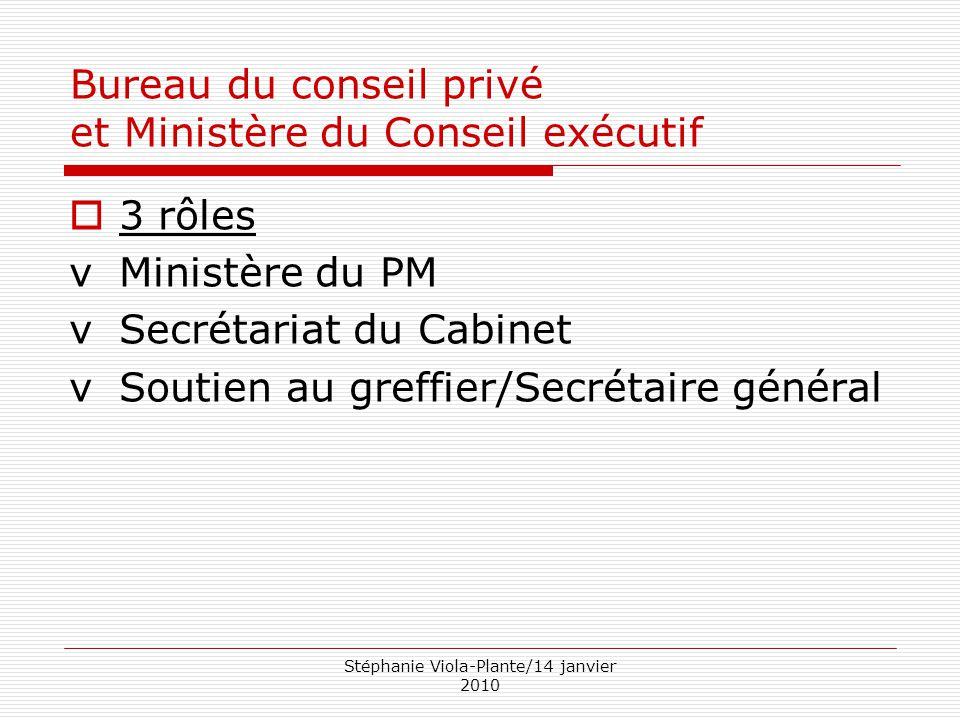 Bureau du conseil privé et Ministère du Conseil exécutif