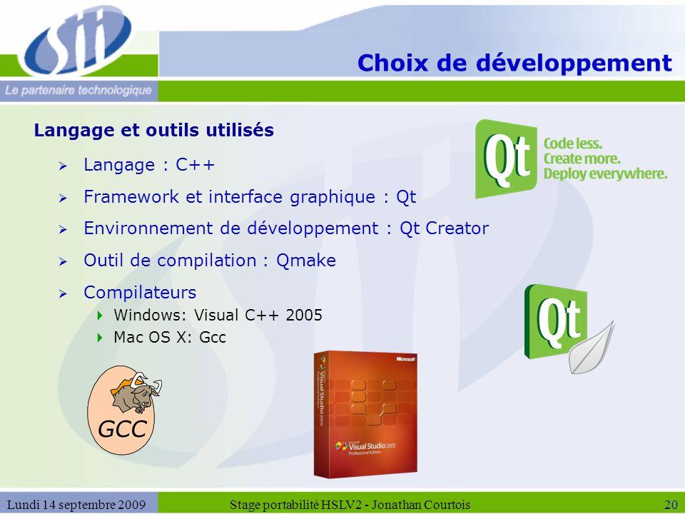 Choix de développement