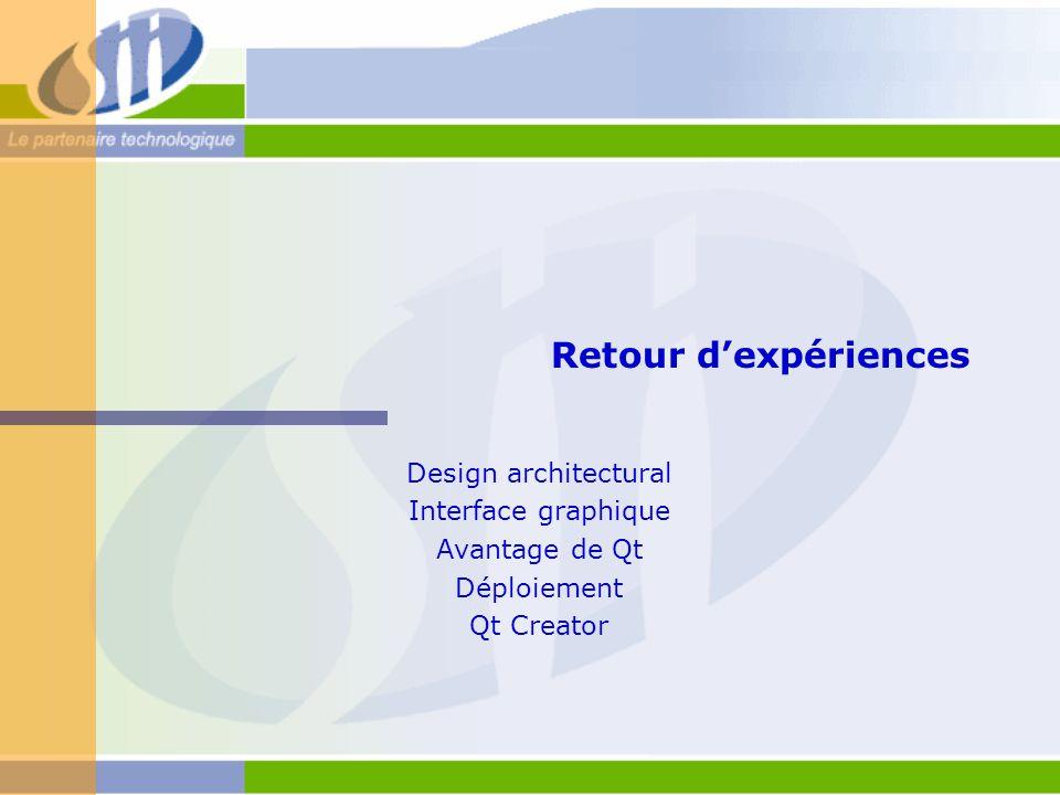 Retour d'expériences Design architectural Interface graphique