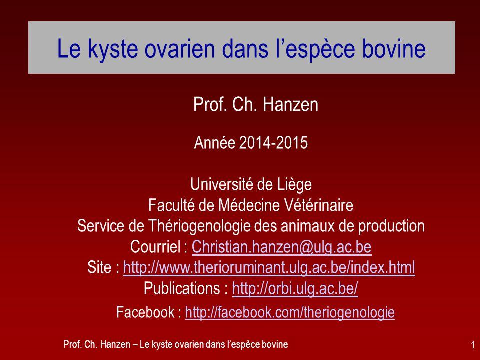 Le kyste ovarien dans l'espèce bovine