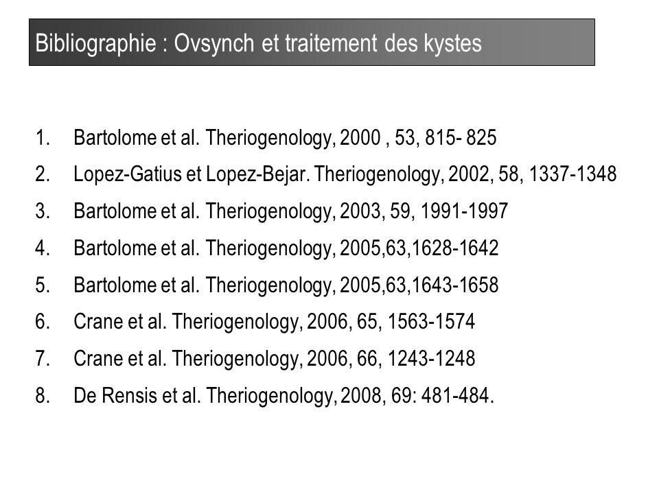 Bibliographie : Ovsynch et traitement des kystes