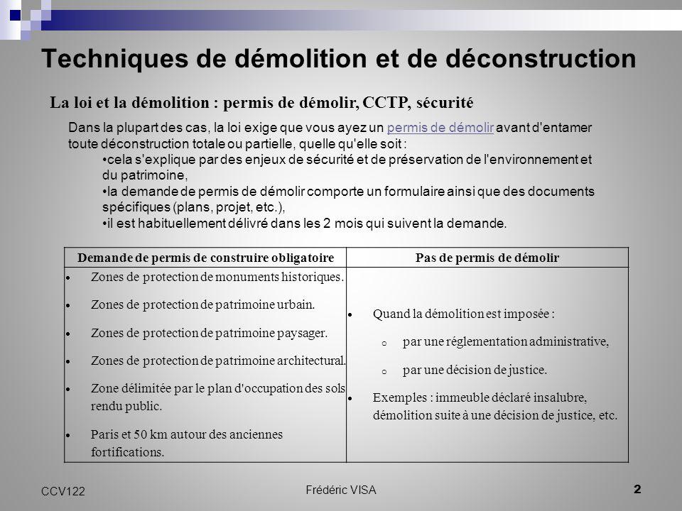 ccv 122 techniques de démolition et de déconstruction - ppt video