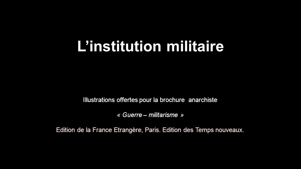 L'institution militaire