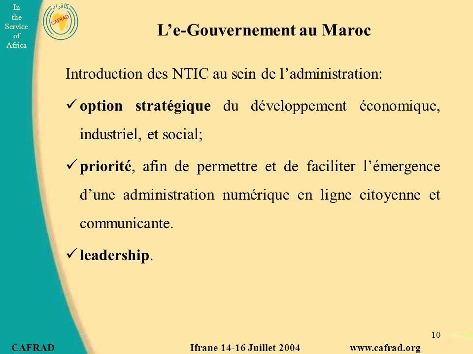 L'e-Gouvernement au Maroc