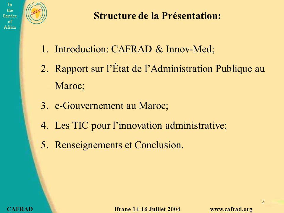 Structure de la Présentation: