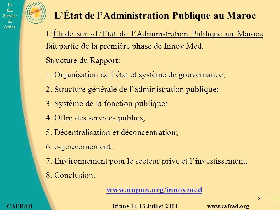 L'État de l'Administration Publique au Maroc