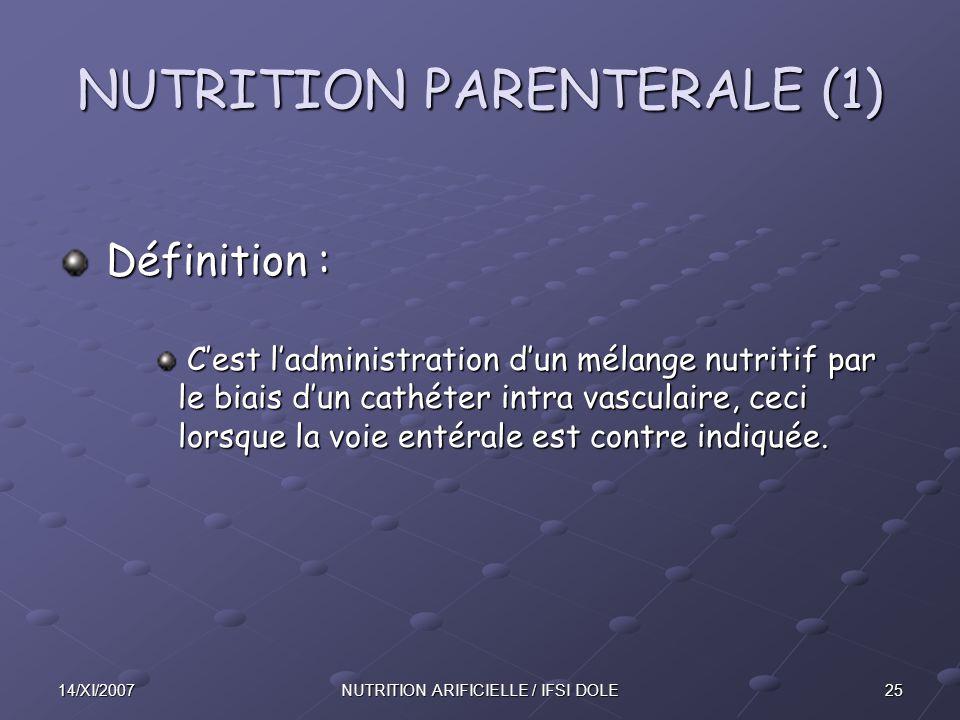 NUTRITION PARENTERALE (1)