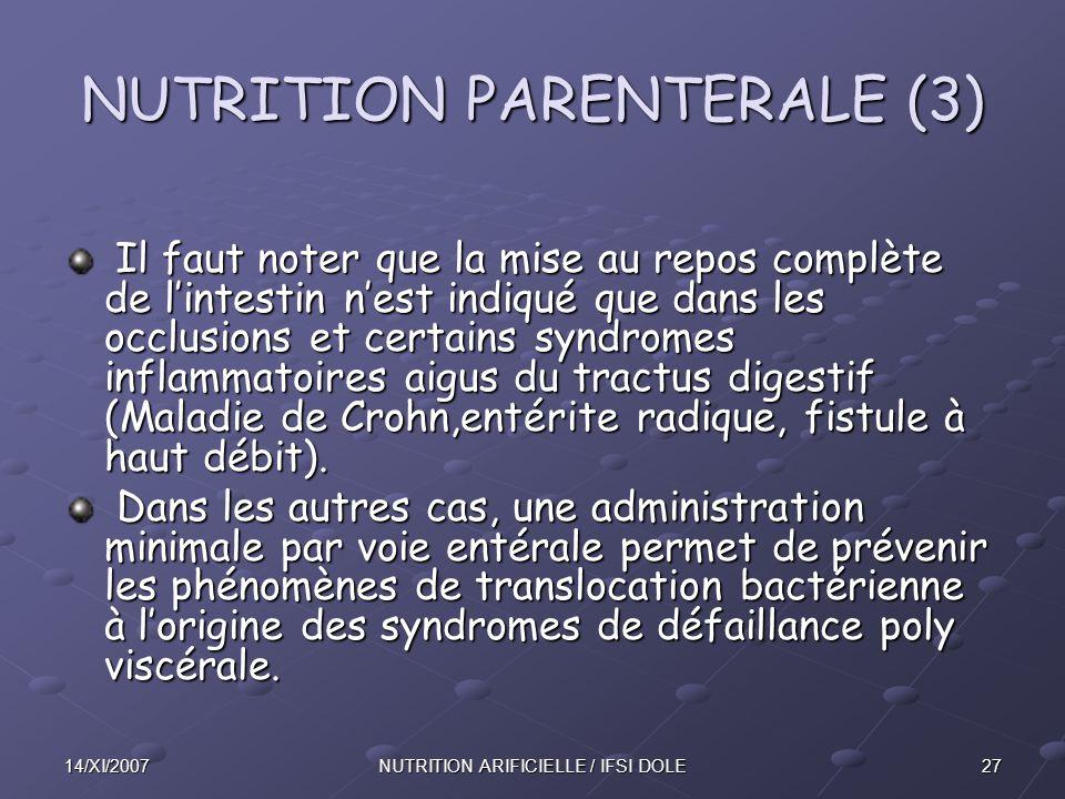 NUTRITION PARENTERALE (3)