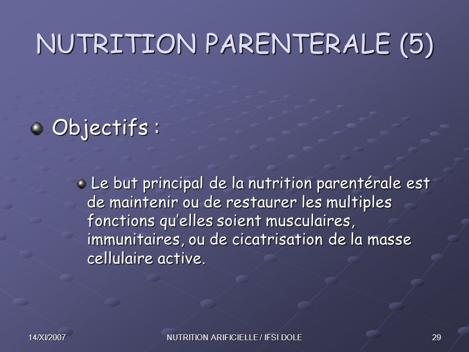 NUTRITION PARENTERALE (5)