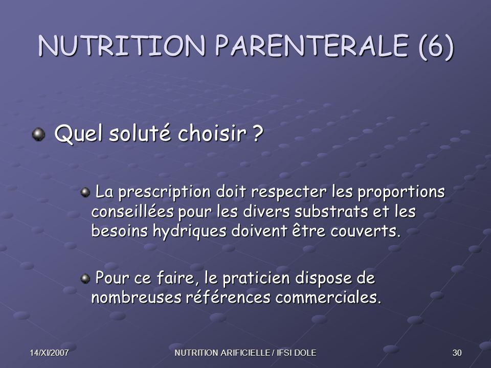 NUTRITION PARENTERALE (6)