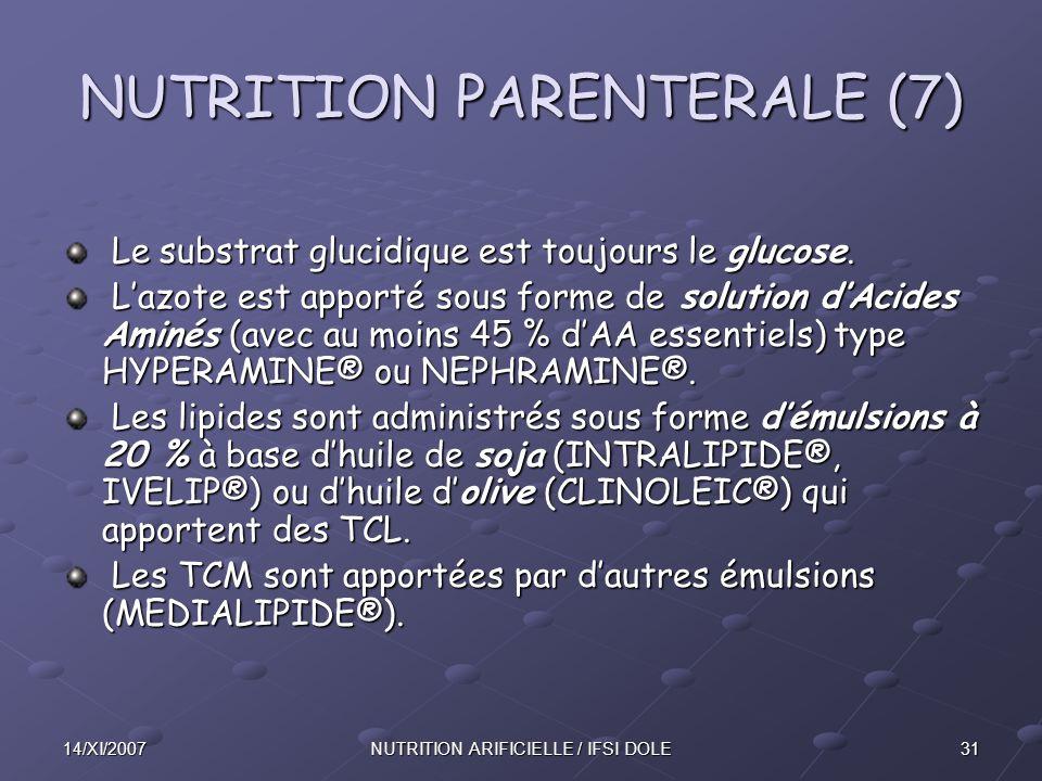 NUTRITION PARENTERALE (7)