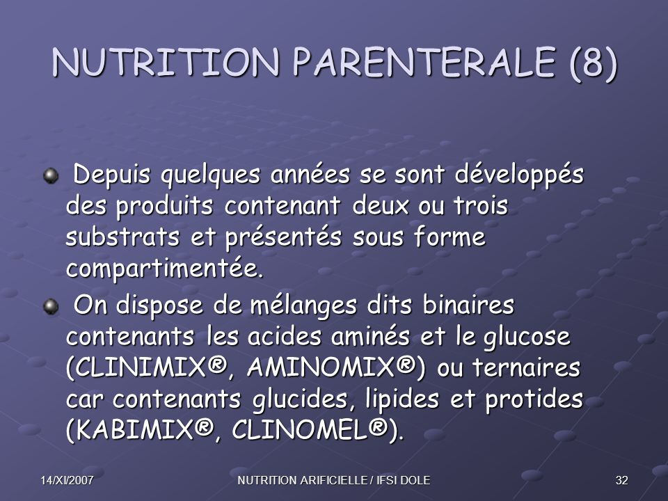 NUTRITION PARENTERALE (8)