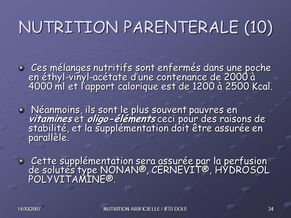 NUTRITION PARENTERALE (10)