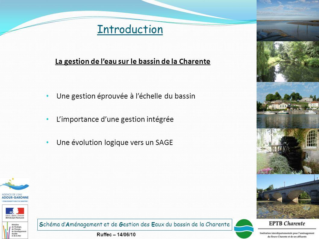 La gestion de l'eau sur le bassin de la Charente