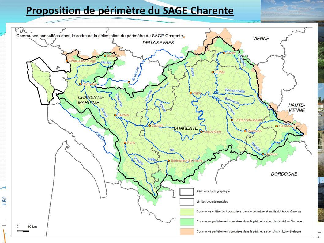 Proposition de périmètre du SAGE Charente