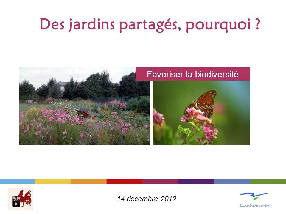 Des jardins partagés, pourquoi