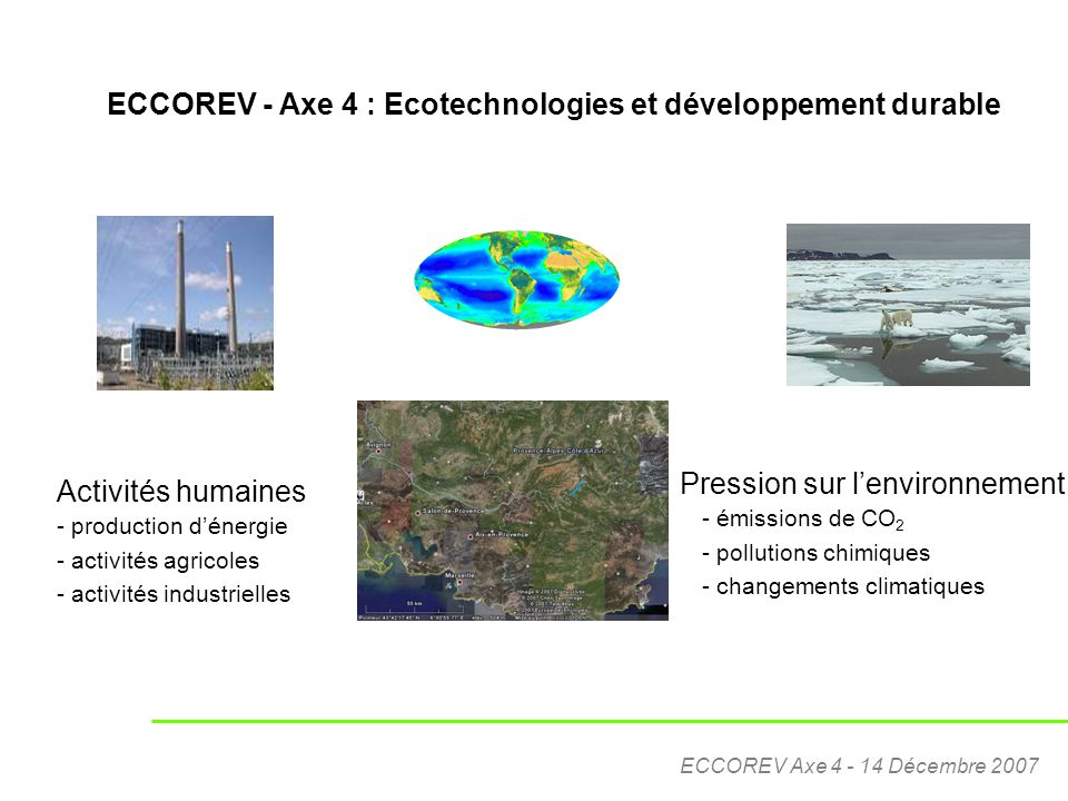 ECCOREV - Axe 4 : Ecotechnologies et développement durable