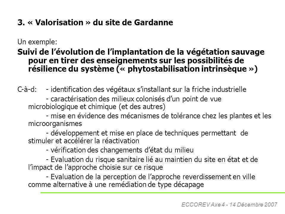 3. « Valorisation » du site de Gardanne