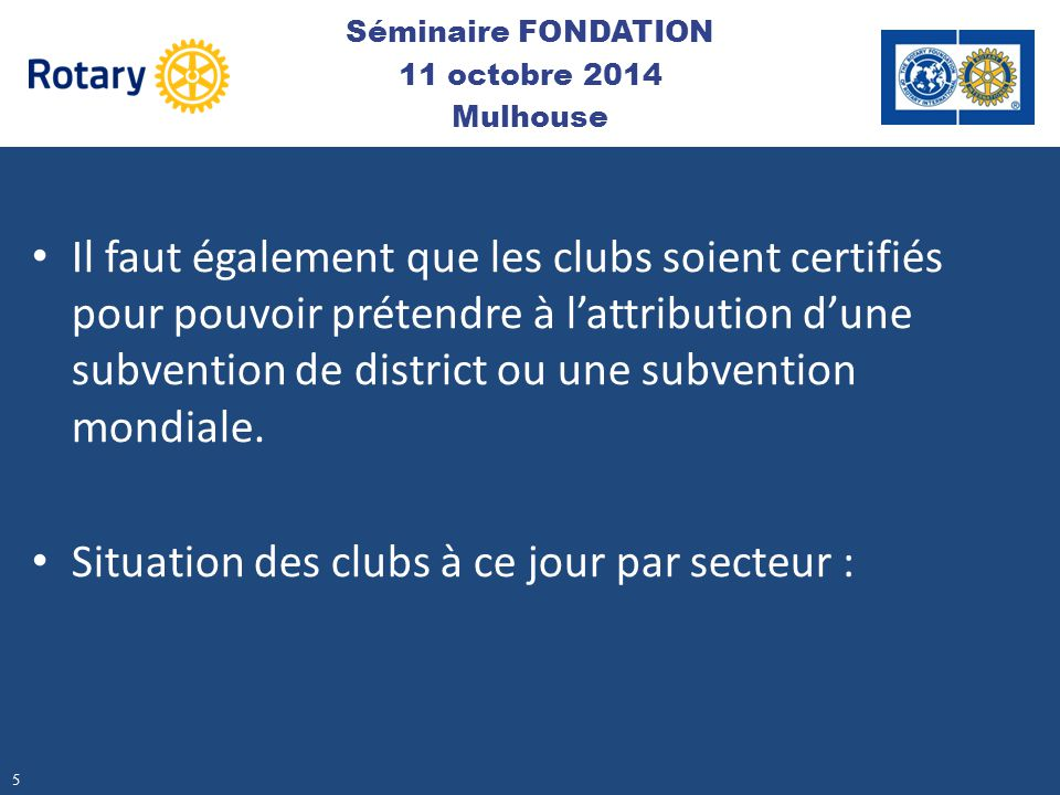 Séminaire FONDATION 11 octobre 2014 Mulhouse