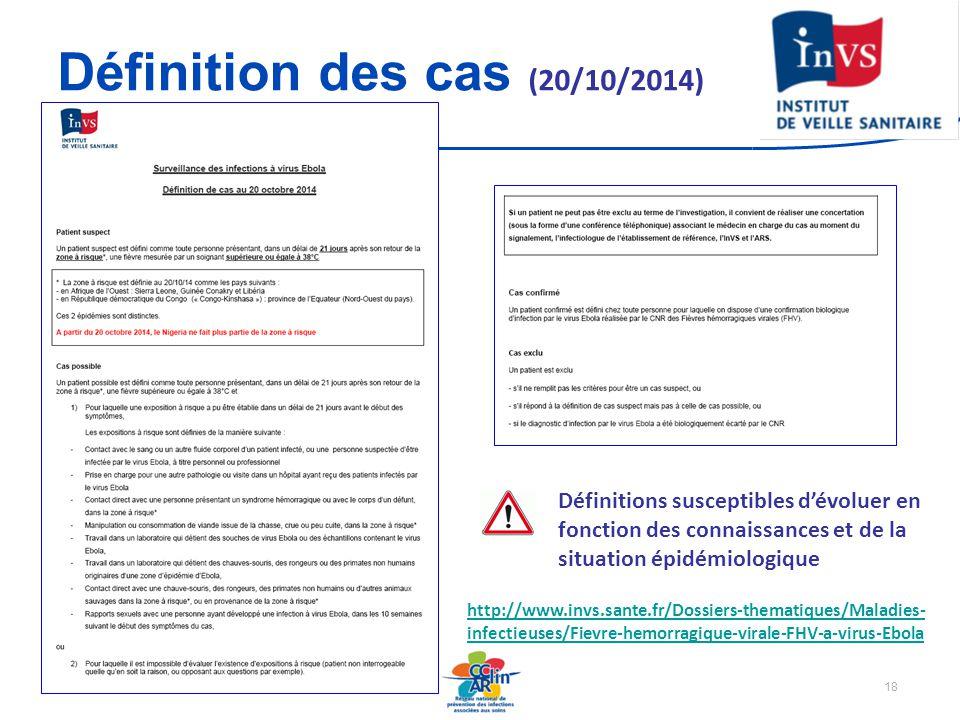 Définition des cas (20/10/2014)