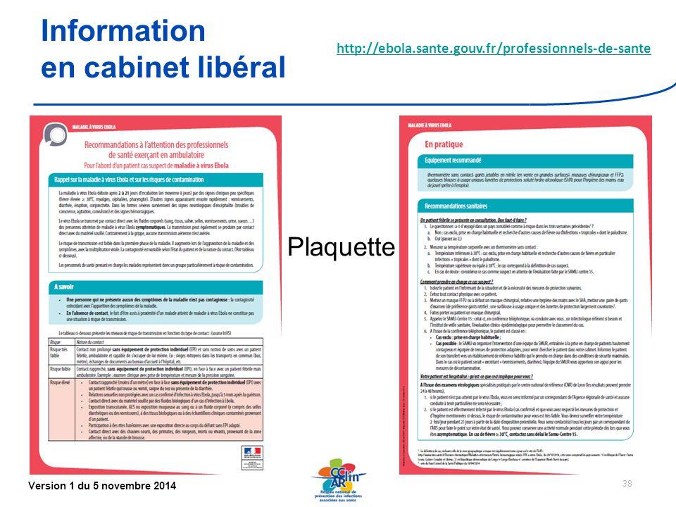 Information en cabinet libéral Plaquette
