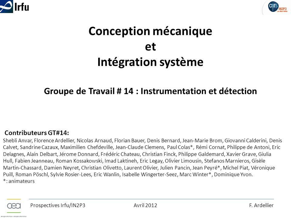 Conception mécanique et Intégration système Groupe de Travail # 14 : Instrumentation et détection