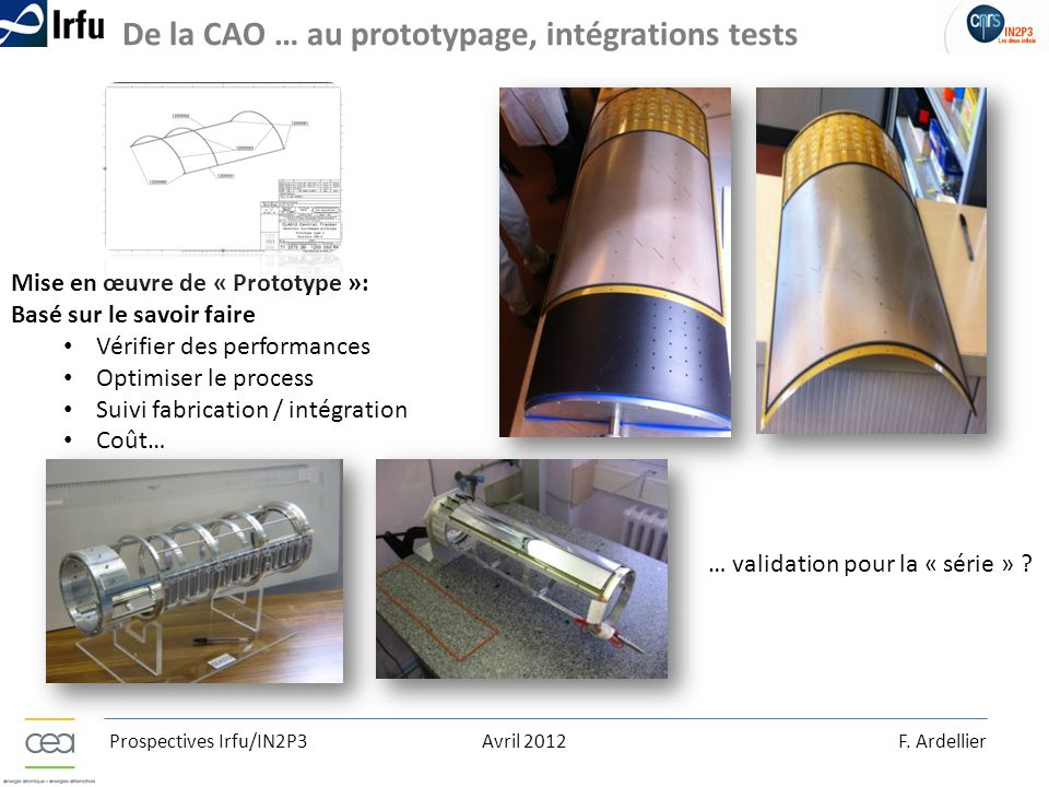 De la CAO … au prototypage, intégrations tests