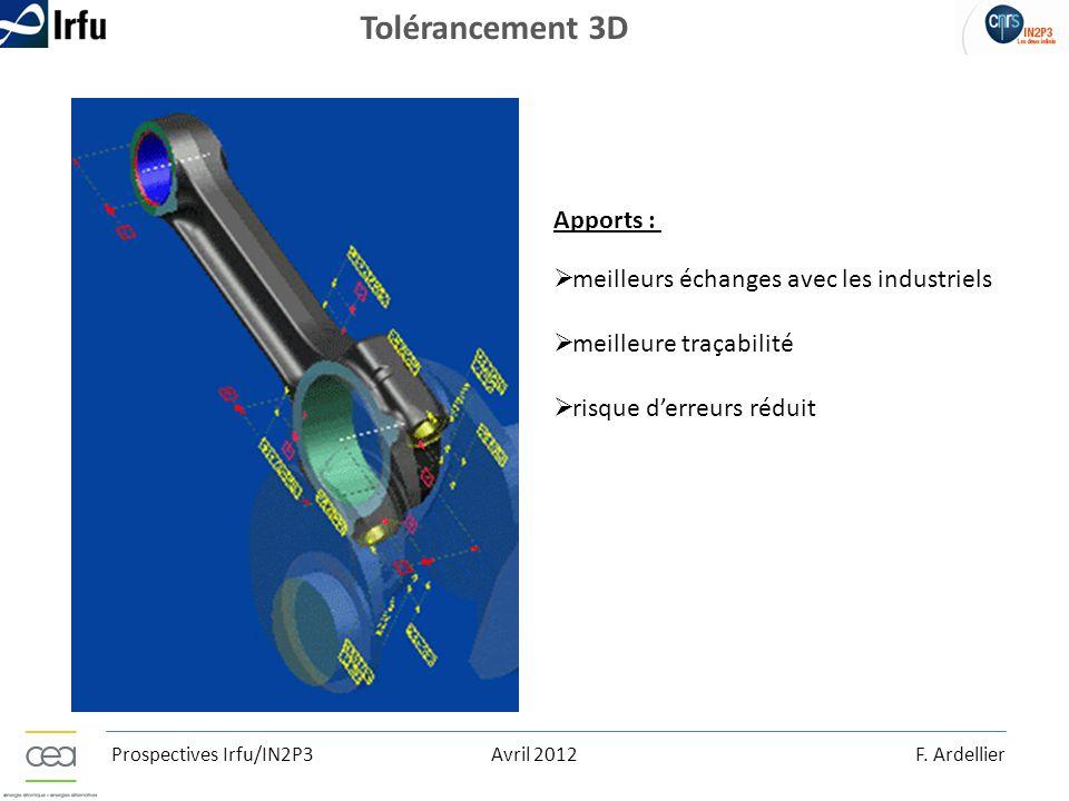 Tolérancement 3D Apports : meilleurs échanges avec les industriels