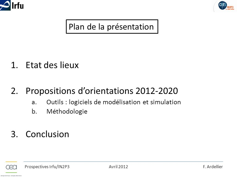 Propositions d'orientations 2012-2020