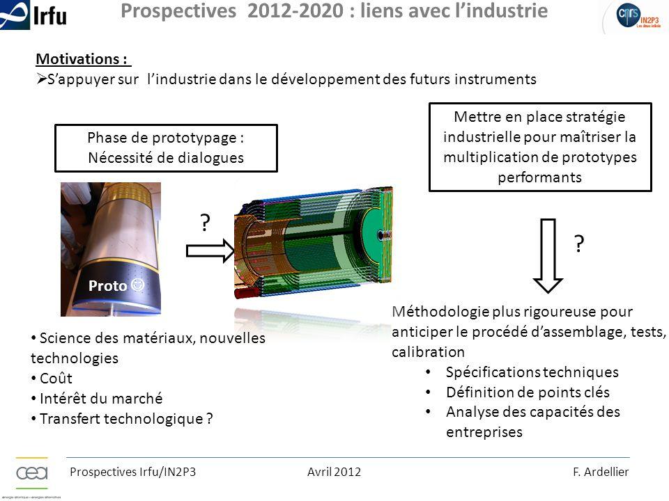 Prospectives 2012-2020 : liens avec l'industrie