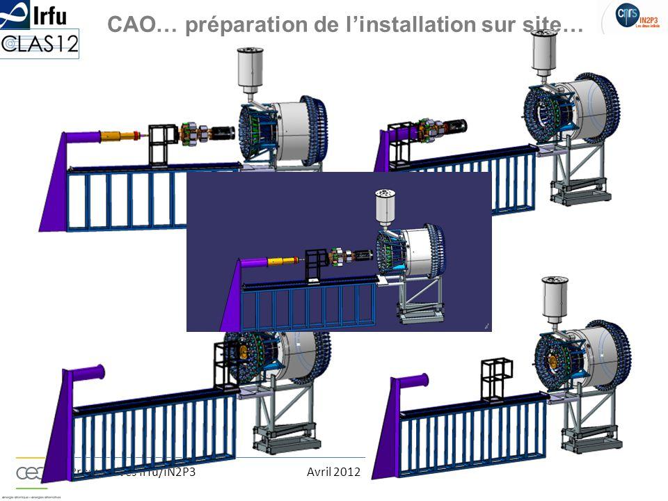 CAO… préparation de l'installation sur site…